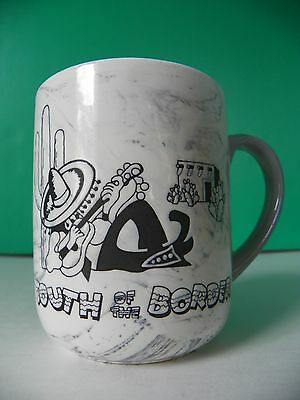 South of the Border coffee mug white & marbled gray