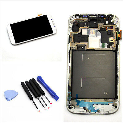 1Set For Samsung Galaxy S4 i9505 LCD Display Touch Digitizer Screen Frame W/Tool