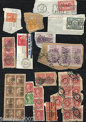USA olds 41 Stamps lot on Paper