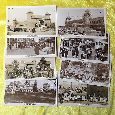 Lot of 8 BRITISH EMPIRE EXHIBITION 1924 Real Photograph Postcards