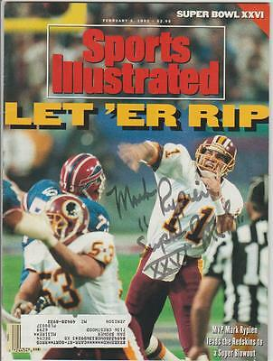 """Mark Rypien AUTOGRAPH 1992 SPORTS ILLUSTRATED SIGNED """"SUPER BOWL MVP"""""""