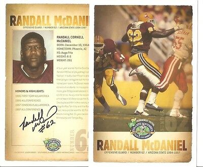 Randall McDaniel AUTOGRAPH COLLEGE FOOTBALL HOF PHOTO SIGNED