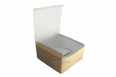 Kraft Buff Disposable Takeaway Cardboard Burger Boxes Fast Food Packaging BBQ
