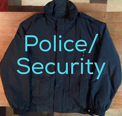 Galls Police/Security Winter Coat With Hood