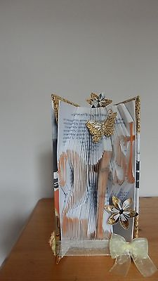Hand made folded book art