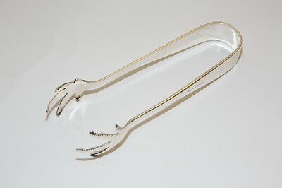 Silver plated ice tongs