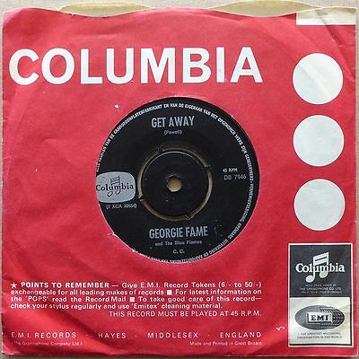 Georgie Fame And The Blue Flames - Get Away - Holland 1966 VG++