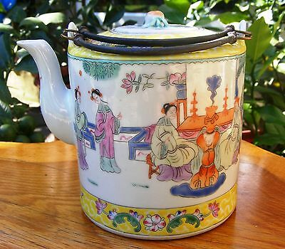 ONE antique Chinese export yellow teapot,late Qing dynasty.Character signed.