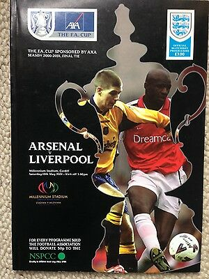 FA Cup Final Programme 2001 Arsenal v Liverpool