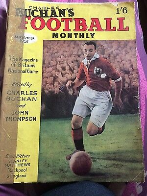 CHARLES BUCHAN Football Monthly SEP 1951 1st ever issue