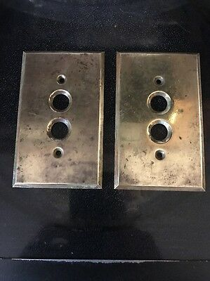 Vintage Light Switch Solid Brass Cover Plates Push Button Electric