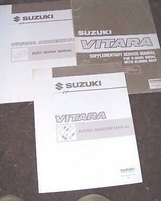Suzuki Vitara Body Repair / Wiring Diagram /supplement Service Manuals