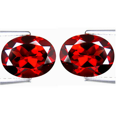 4.74Cts Natural 9x7mm Top Luster Garnet Pair Oval From Africa Loose Gemstone