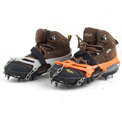 1 Pair 12-Teeth Ice Boot Shoe Cover Spike Cleats Crampons Gripper Climbing D4P2