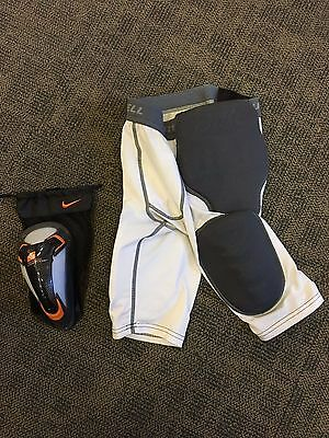 Russell Compression Fit Padded Shorts With Nike Cup Men's Size S