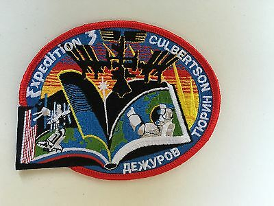 Aufnäher Patch ISS Expedition 3 Sojus TM 3