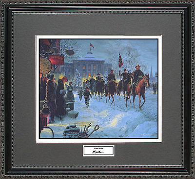 Mort Kunstler WINTER RIDERS Framed Print Civil War Wall Art Gift