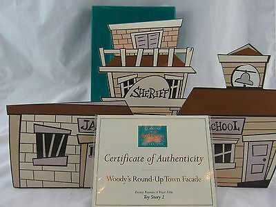 """WDCC """"Woody's Round Up Town Facade"""" Disney's TOY STORY 2 In Box with COA"""