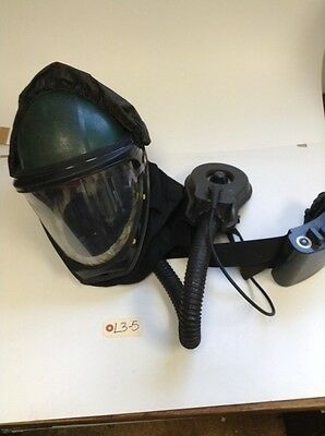 3M Hardhat Shell w/ L-130 Faceshield, Rechargable Battery, and Cooling Hose