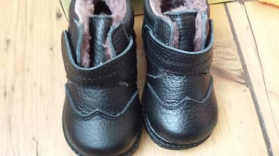 baby boys shoes brand new boxed black warm size 21