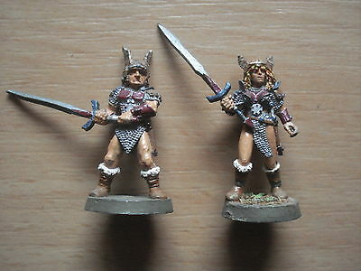 Ral Partha: male + female fighter