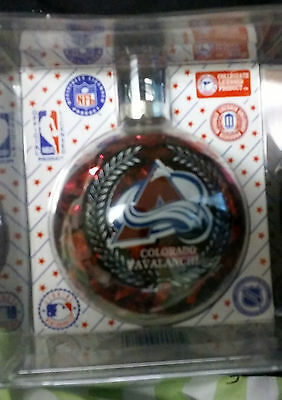 Colorado Avalanche Official Sports Collectors Series Glass Christmas Ornament