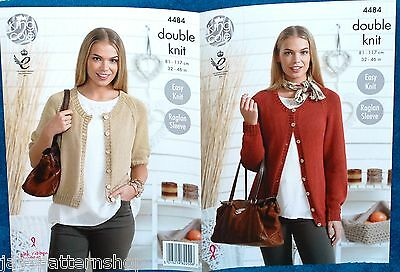 Ladies Double Knit Easy Knit Cardigan Knitting Pattern 32 - 46 Inch