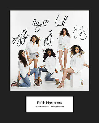 FIFTH HARMONY #1 10x8 SIGNED Mounted Photo Print - FREE DELIVERY