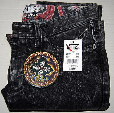KISS Rock And Roll Over Vans Denim Jeans Unworn w/ SHAPED RARO COVER HANG TAG