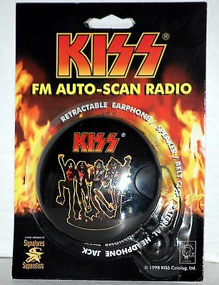 Sealed KISS Destroyer FM Auto-Scan Radio 1998 Gene Simmons Ace Frehley