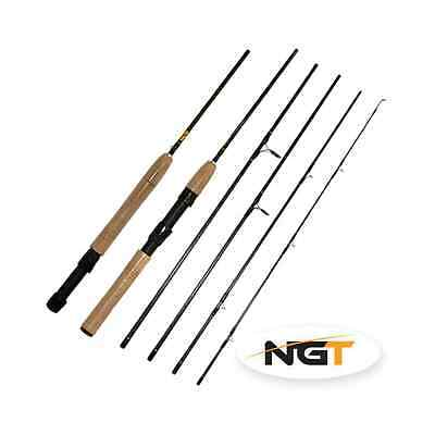 Fly/Spin 1000 7.5ft, 5pc Carbon Fly / Spinning Travel Rod (Convertible)