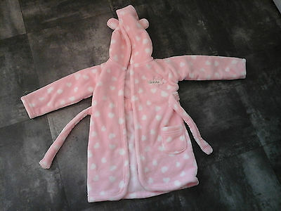 Pink Dressing Gown From George In Size 12-18 Months