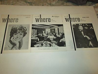 Where to Go in Chicago travel magazines 1969 Tony Bennett vintage local ads