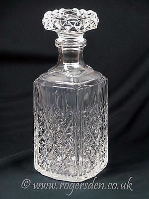 Crystal Glass Square Whisky or Spirit Decanter