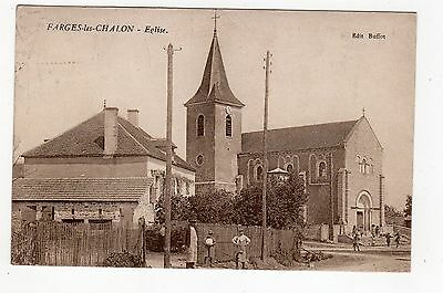 CPA 71 - Farges les Chalon - Eglise , animation