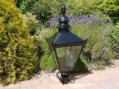 Black Vintage Victorian Garden Street Post Lantern Lamp Top Metal Light Large
