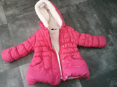 Girls Pink Coat From George In Size 12-18 Months