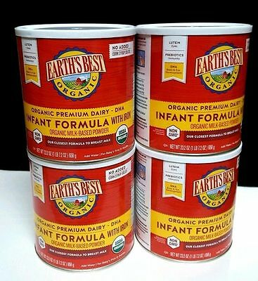 Earth's Best Organic Infant Formula with Iron ‑ Lot of (4) 23.2 oz can