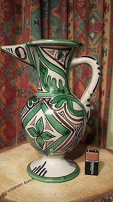 Stunning Picasso Art Deco Inspired fully signed large heavy Jug Vase Bird design