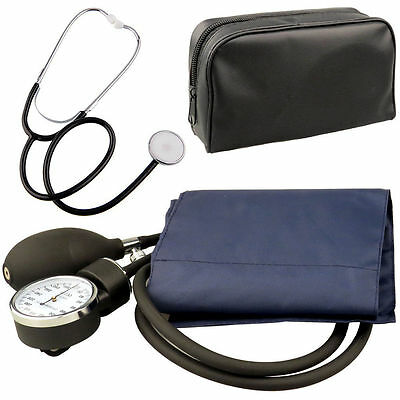 Aneroid Sphygmomanometer Blood Pressure Monitor Meter +Stethoscope. Medical Kit
