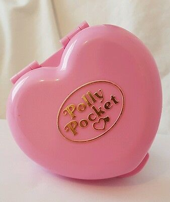 Vintage Polly Pocket Jewellery Box Pink compact 1989  excellent condition