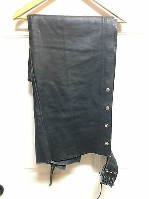 Motorcycle Biker Leather Chaps