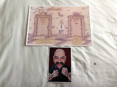 Bronson Cell Doors A4 Print By Charlie Bronson Hand Signed