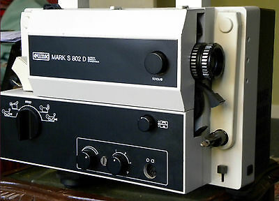 EUMIG MARK S802D SUPER 8, STANDARD 8 SOUND CINE PROJECTOR; for movies & films