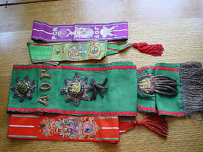 Ancient Order of Foresters Sash, Scarf and Neck Ribbons