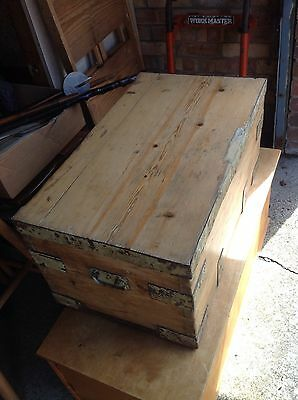 Antique Vintage Pine Storage Chest /  Blanket Box / Coffee Table