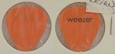 Weezer -  Old Brian Bell Tour Concert Orange Guitar Pick