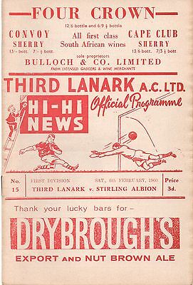 59/60 Third Lanark v Stirling Albion