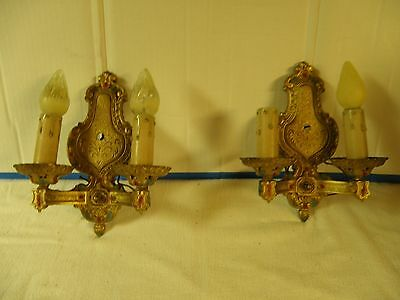 Antique Chandelier & two Sconces