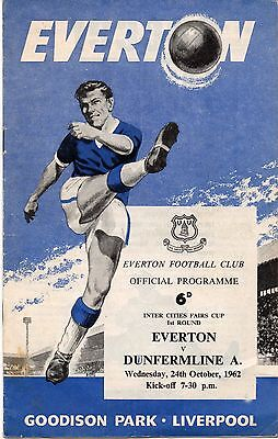 62/63 Fairs Cup Everton v Dunfermline